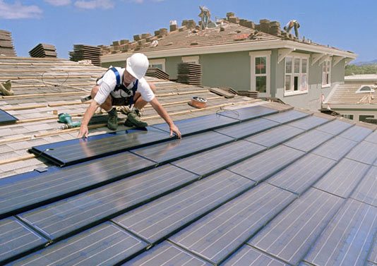 BIPV solar shingles home installation